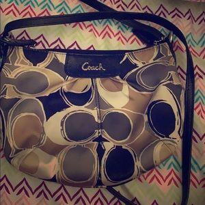 A very expensive coach purse